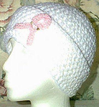 Craft Ribbon Angel | AngelCrafts - Pink Ribbon Chemo Cap