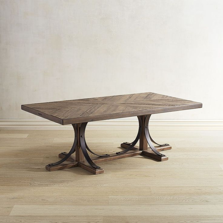 The Iron Trestle Shop Floor Coffee Table From The Magnolia Home