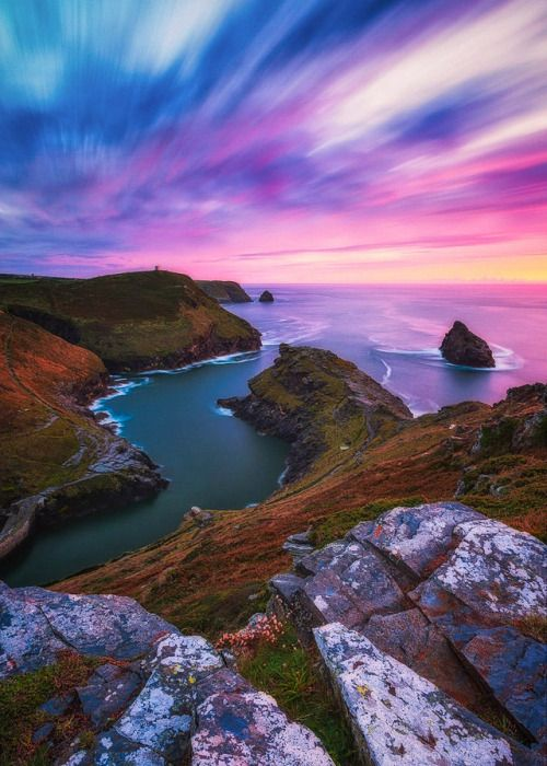 coiour-my-world:Natural harbour  Cornwall England Alessio...