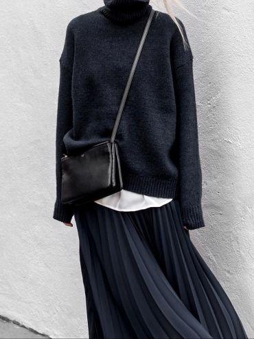 Le parfait total look noir et bleu marine #3 – #bl…
