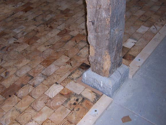 61 best images about wood block wood brick flooring on for Wood floor knocking block