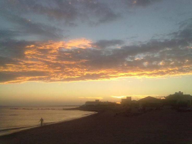 cloudy but spectacular sunset