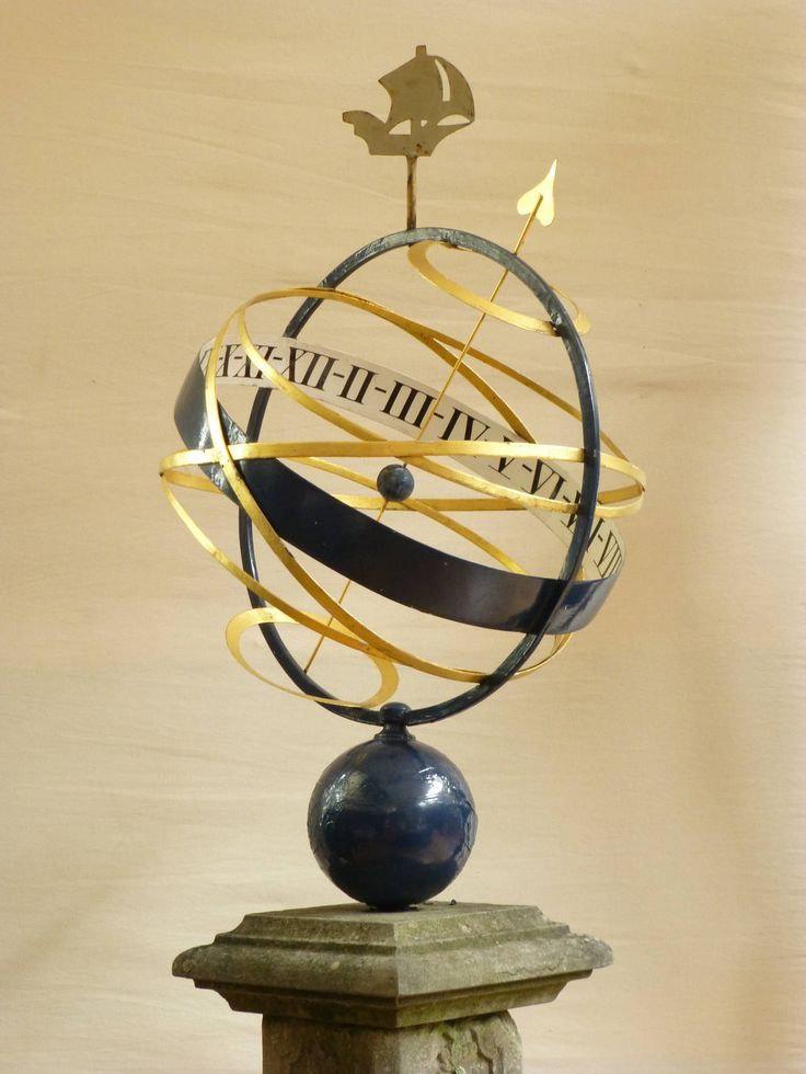 An 18th century armillary sundial | From a unique collection of antique and modern sundials at https://www.1stdibs.com/furniture/building-garden/sundials/