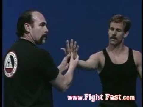 Choke take down and wrist manipulation.