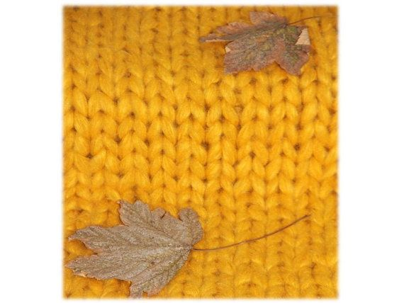 Super Chunky Knit Throw Mustard Chunky Knit by TheKnitBeyond