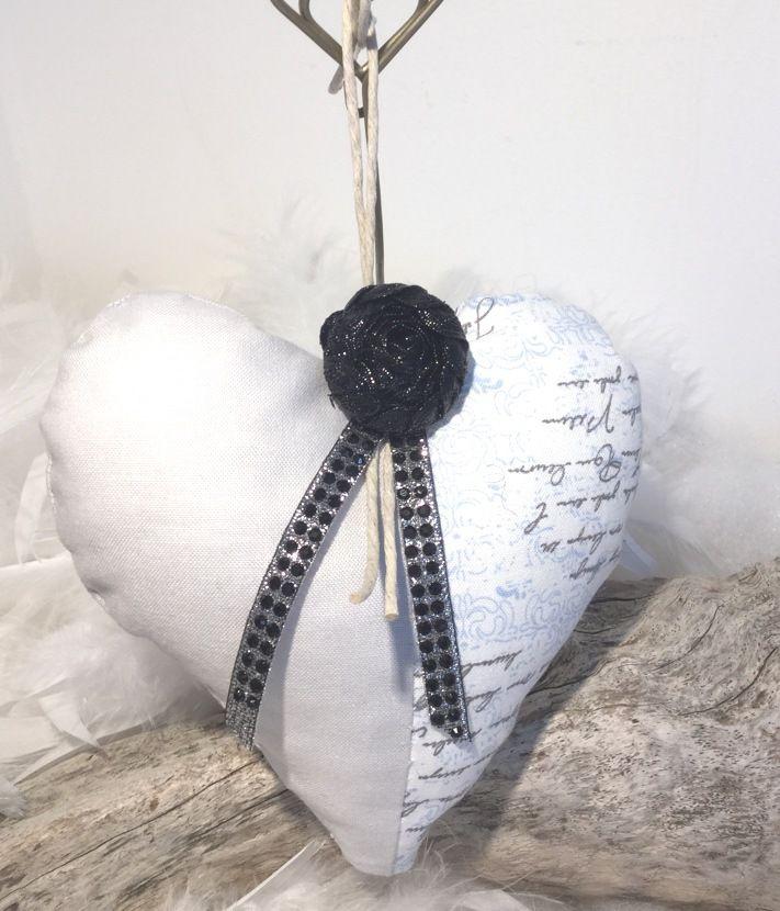 """Coeur bleu Rock et strass """" fait main """" : Accessoires de maison par mode2filles"""