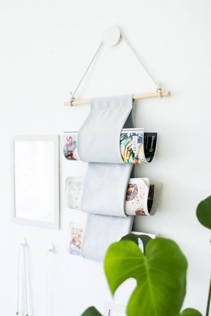 DIY Canvas Magazine Hanger