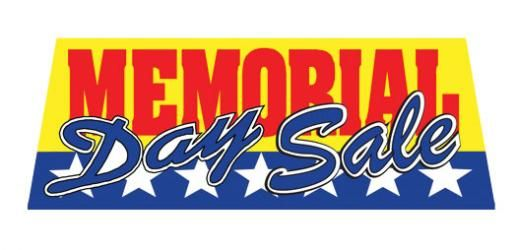 MEMORIAL DAY SALE Car Window Banner
