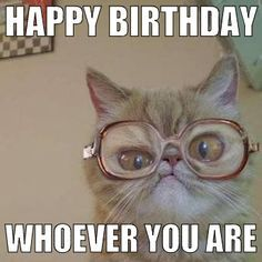 7 décembre anniversaire de boufardo ... 52 bougies sur le gâteau Ebd9a4c38139d5c6722a79f360e0c8c0--happy-birthday-cats-cat-memes