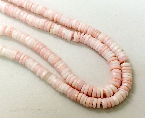Pink Opal Spacer Beads Shaded Pink Opal Plain by gemsforjewels