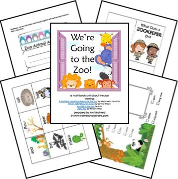 Free We're Going to the Zoo! Unit Study and Lapbook Printables