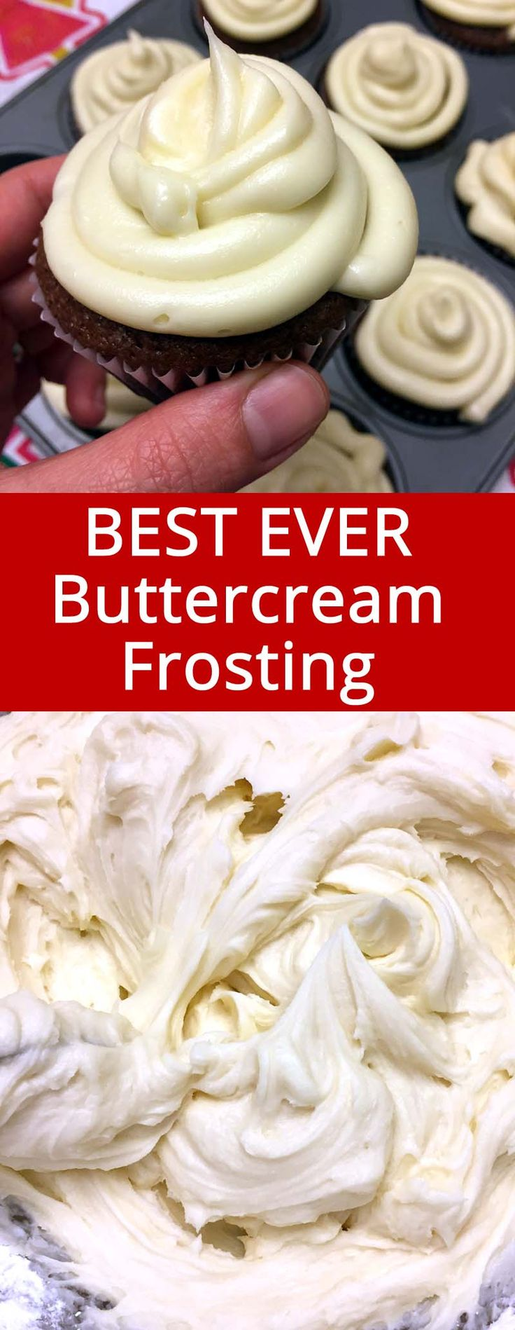 This homemade vanilla buttercream frosting is the best ever! I'll never have store-bought frosting ever again!