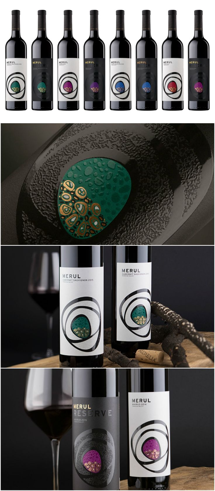 Design Agency: the Labelmaker Brand / Project Name: Merul Wine Labels Location: Bulgaria Category: #wine #drink
