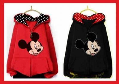 Jaket cewek trendy terbaru 2015 mickey mouse