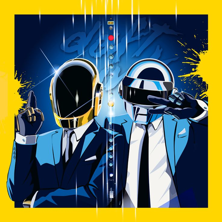 Daft Punk musicien techno illustration