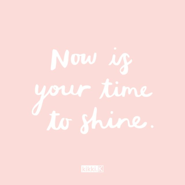 Now is your time to shine! #livebright #kikkiK www.kikki-k.com