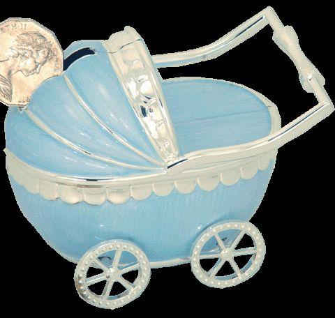 Angel Giftwares Money Bank Pram, Blue Epoxy – Sweet Thing Baby & Childrens Wear #Kids #Gift #Stuff sweetthing.com.au
