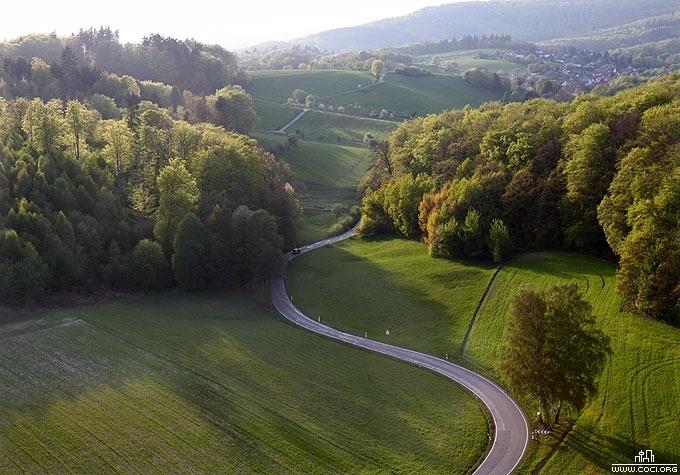 Dreamy Landscape in Germany Odenwald