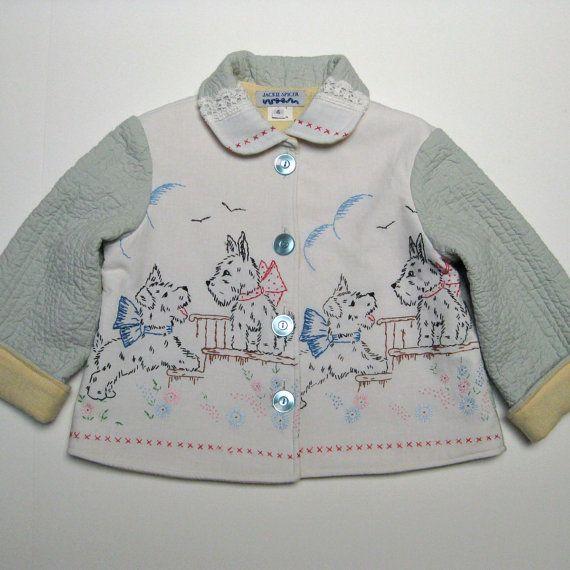 vintage scotty dog embroidered jacket