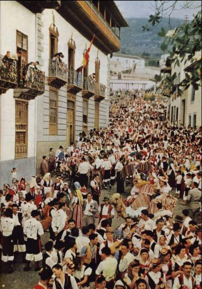 Foto Antigua de la Romería de La Orotava, Tenerife. Islas Canarias