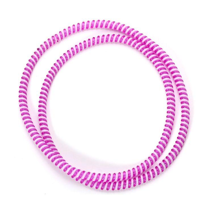 Spiral Cord Protector - 2-Tone White / Purple