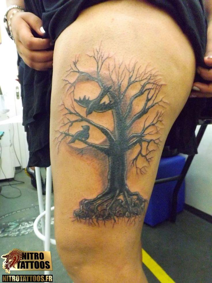 tatouage homme mollet arbre. Black Bedroom Furniture Sets. Home Design Ideas