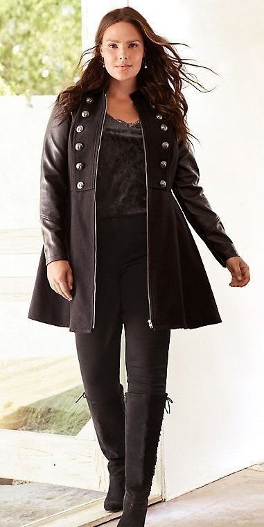 Plus Size Military Coat | Plus size bitch!