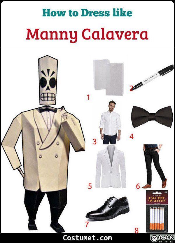 Fandango Halloween 2020 Manny Calavera (Grim Fandango) Costume for Cosplay & Halloween