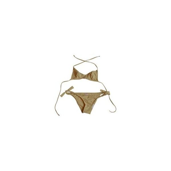 Two-piece swimsuit ERES ❤ liked on Polyvore featuring swimwear, bikinis, swimmers, two piece bathing suits, two piece swimsuit, cotton bikini, 2 piece bikini and 2 piece swim suits