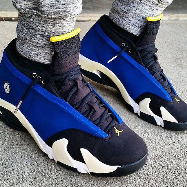 purchase cheap f7f8e 991d2 air jordan 14 yellow and black christmas