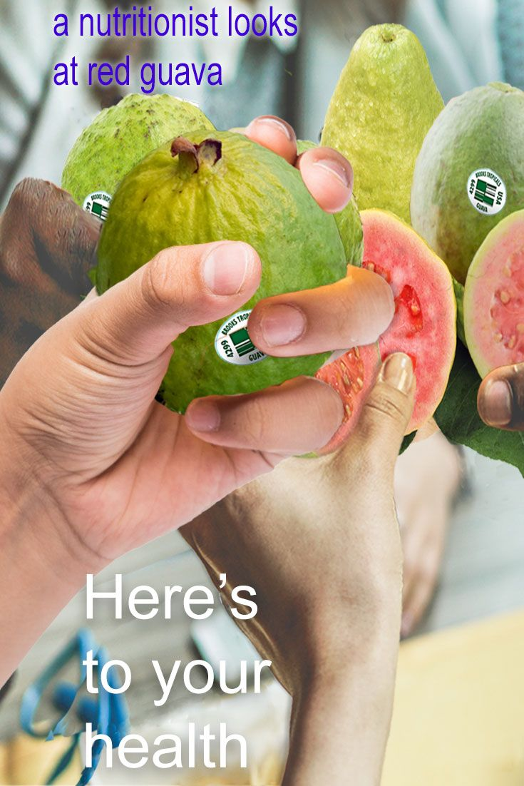 Here's to your health! Let's give a toast to red guava, sweet in taste and in nutrition. See how a nutritionist views red guava. http://www.brookstropicals.com/nutritionist_views/guava/index.php
