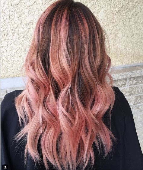 37 + Trendy Hair Brunette Rose Gold Höhepunkte – new hair