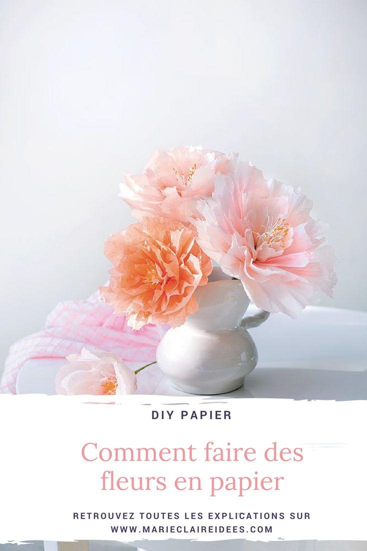 Les 25 meilleures id es de la cat gorie fleurs en papier - Faire des fleurs en papier ...