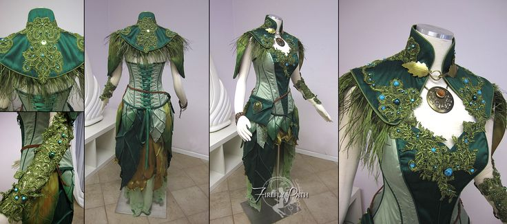 Dryad Archer Costume by Lillyxandra.deviantart.com on @deviantART. Absolutely Gorgeous!