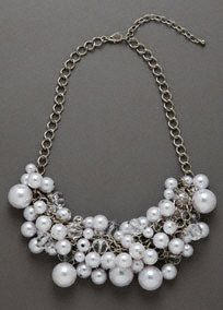 Mixed Baubles Necklace, Style 12034160 #davidsbridal #homecoming2014 #jewelry