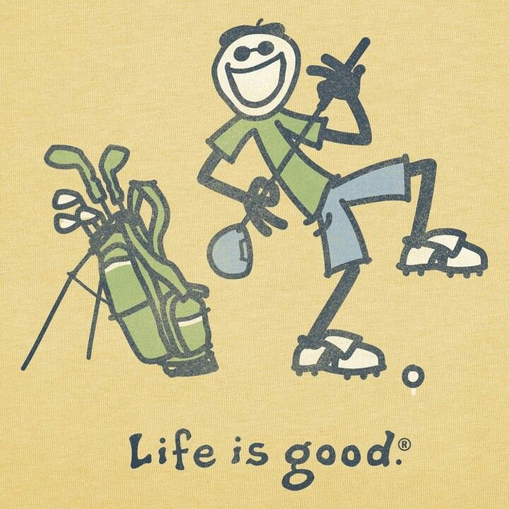 Life is good when you're playing golf