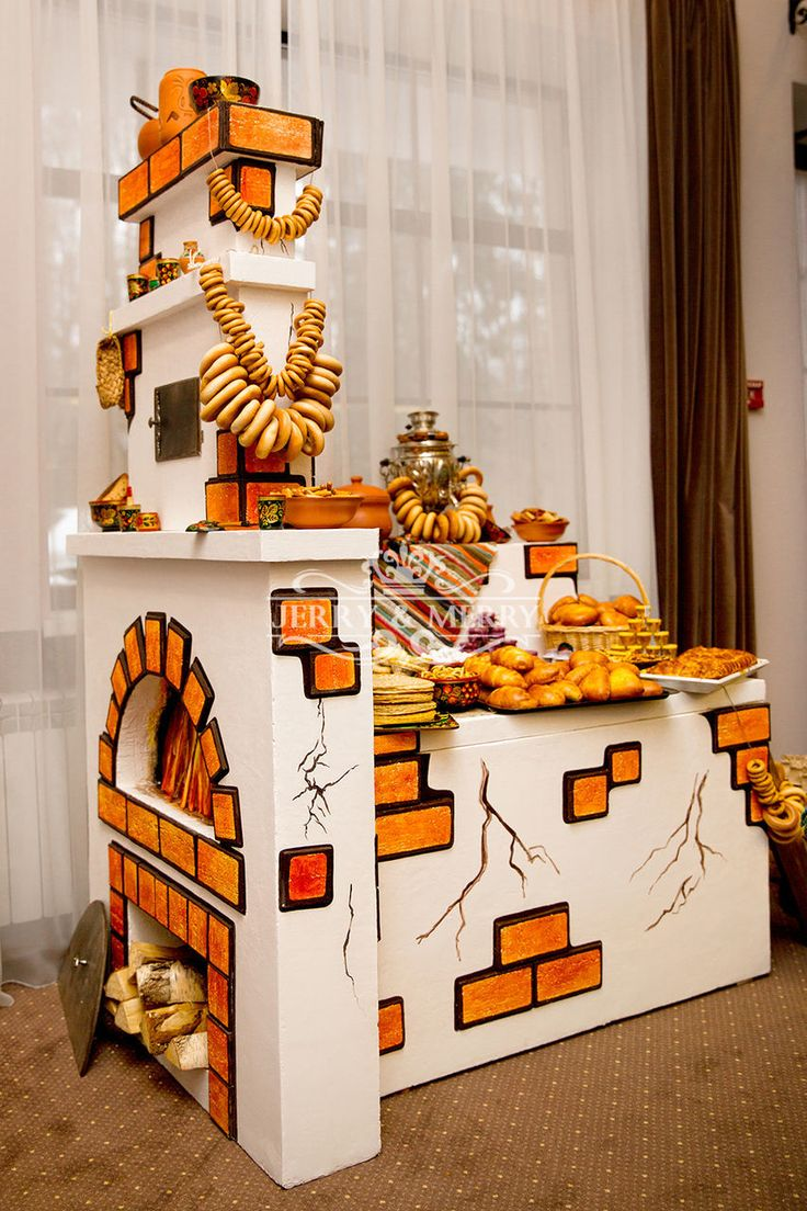 Печка - кенди бар, сладкий стол, Candy bar, Три богатыря, русская печь, оформление праздника