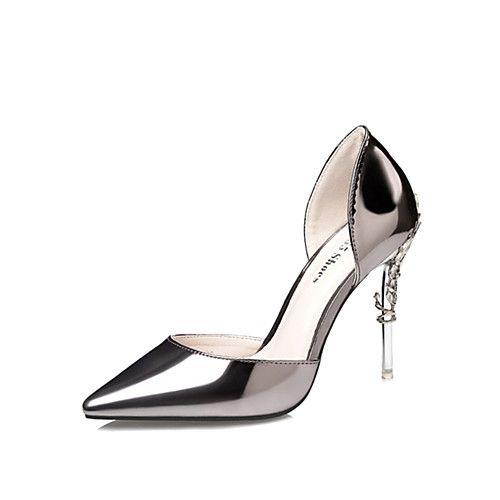 Femme-Mariage Bureau & Travail Habillé Soirée & Evénement--Talon  Aiguille-club de Chaussures-Chaussures à Talons-Cuir Verni
