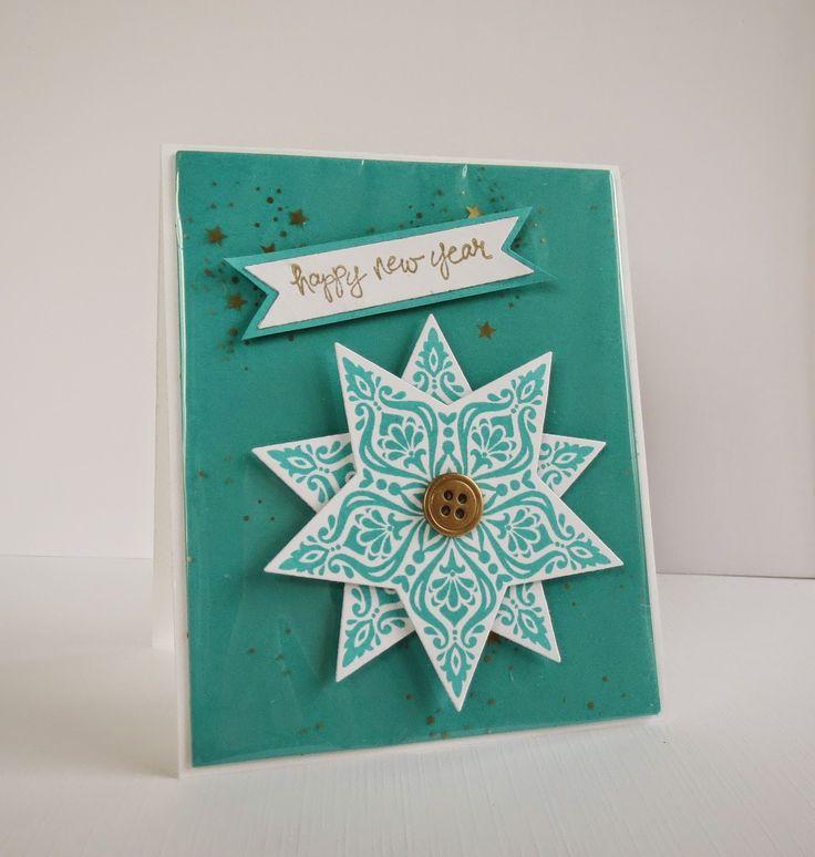Kerstkaart (maken met theezakjes ster?) | Kerst ideeën ...
