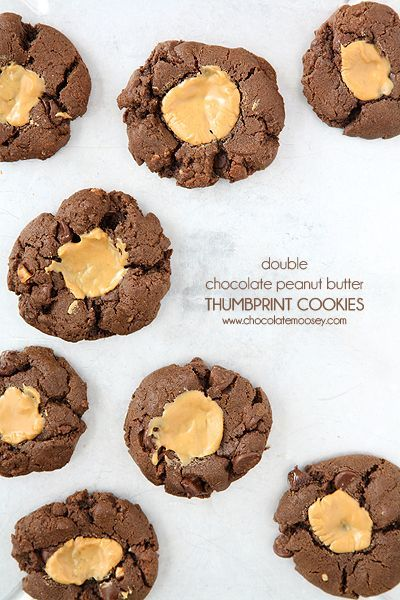 chocolate peanut butter thumbprint cookies peanut butter thumbprint ...