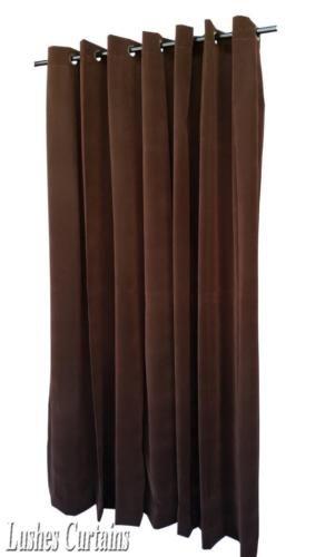 brown 96 inch h velvet curtain panel wgrommet top eyelet window treatment drape home - Braun Gardinen