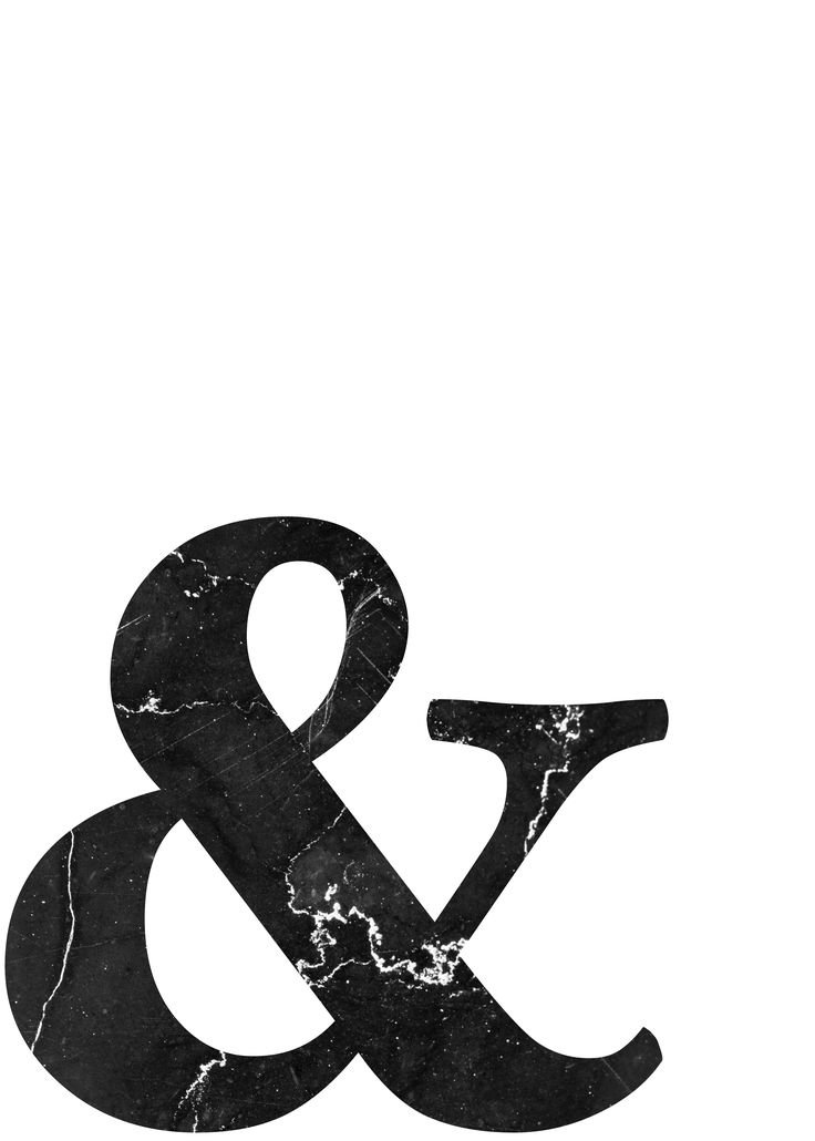 And Poster & Wall Art Ampersand Scandinavian Poste…