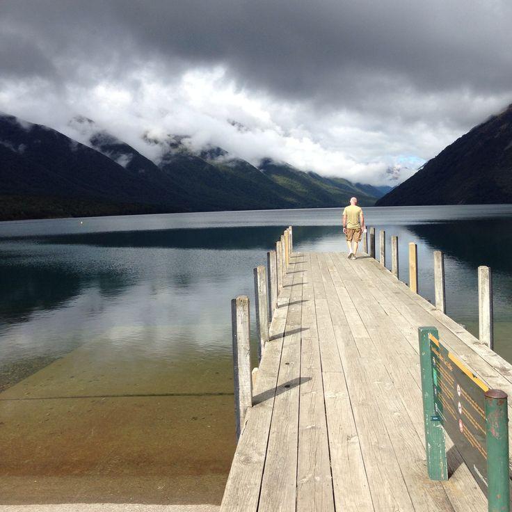 Lake Rotoiti on a broody day NZ