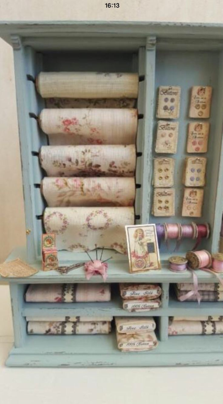 Miniature haberdashery display