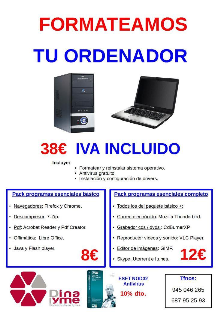 Formateamos tu ordenador por 38€
