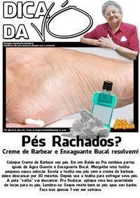 pés rachados