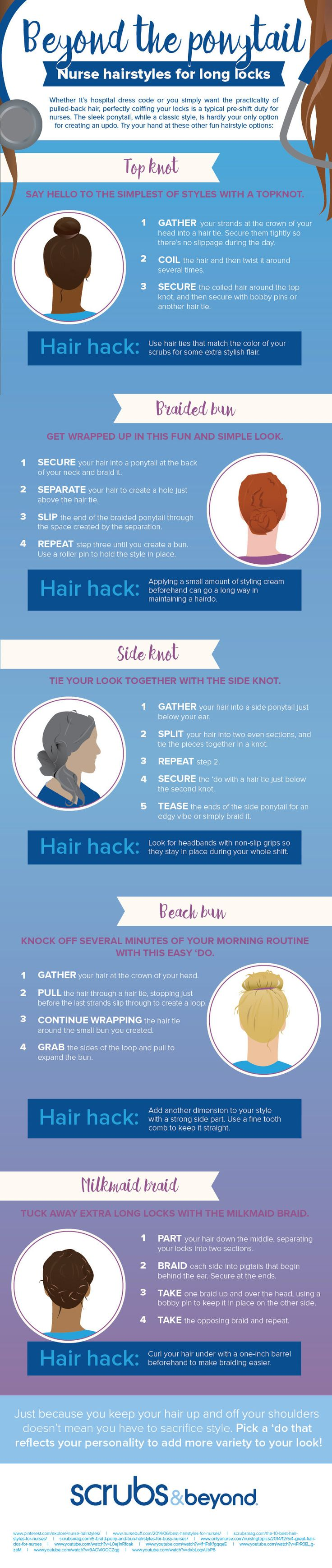 Nurse Hairstyles For Long Locks
