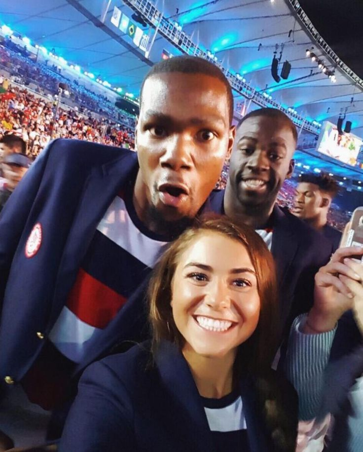 Diver Kassidy Cook shared a funny photo from the opening ceremony alongside…