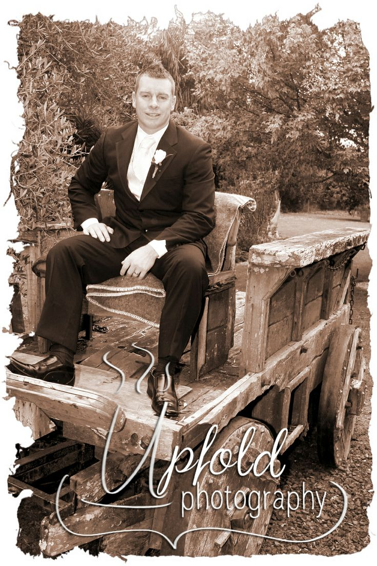 Wedding photography - great way to pose the Groom. He is comfortable, and posed in a great rustic setting. Image by Upfold Photography. ~ Rustic wedding photography ~ posing the Groom ~ weddings in Kumeu, Auckland ~