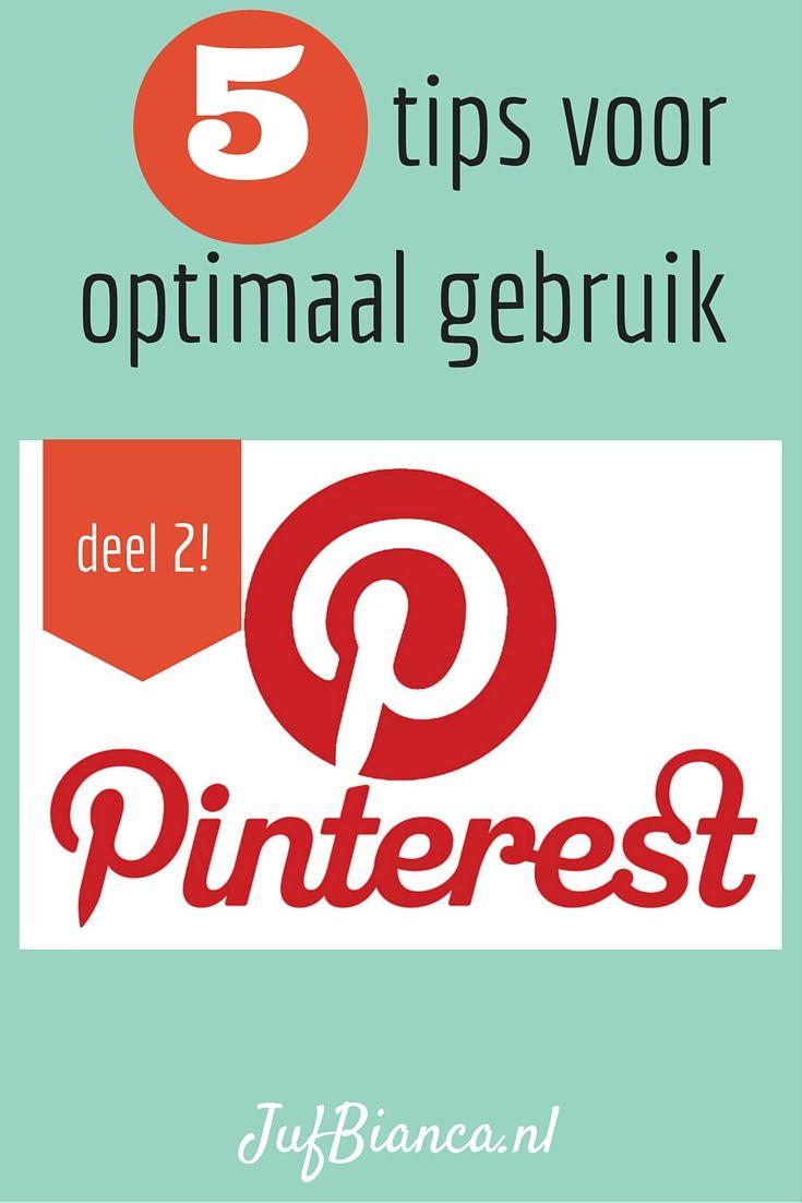 Pinterest deel 2: 5 tips voor optimaal gebruik